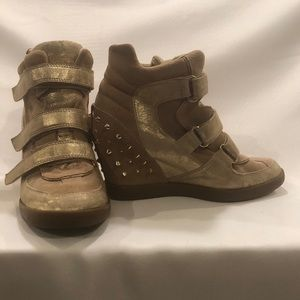 Guess Suede Wedge Ankle Boots
